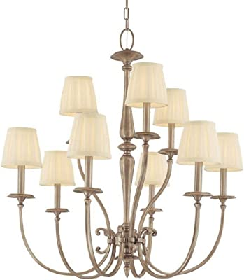 Hudson Valley Lighting 5219-AN Jefferson Collection - Nine Light Chandelier, Antique Nickel Finish