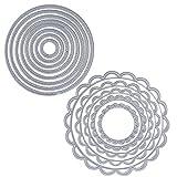 2 Set 13pz Fustelle Stencil Cerchio Cutting Dies per DIY Scrapbooking Album di Carta del Mestiere...