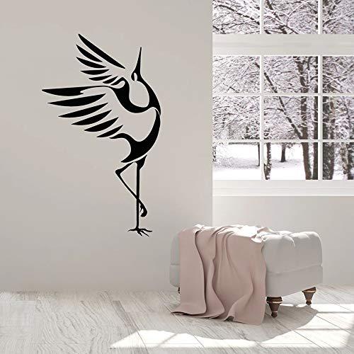 wZUN Pegatinas de Pared símbolo de la Buena Suerte pájaro cigüeña guardería niños Dormitorio decoración Vinilo Pegatina Animal Arte Mural 85X49cm