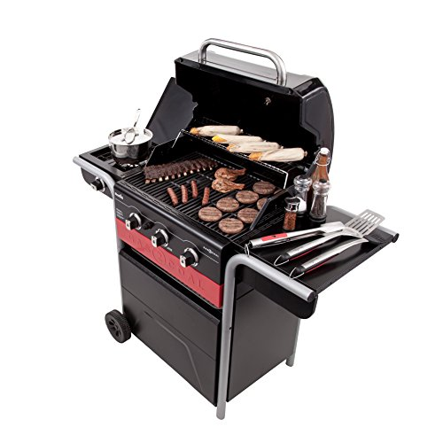 Char-Broil Gas2Coal Hybrid Grill - 3 Burner Gas & Coal Barbecue Grill, Black Finish Outdoor Cooking