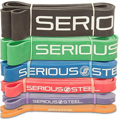 Serious Steel 41' Assisted Pull-up Band | Resistance Band Sets, Stretching, Powerlifting, Resistance Training (Complete Set (#0-#5))