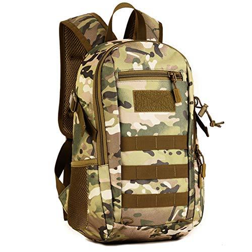 Huntvp 12L Mochila de Asalto Militar Táctical Molle Bolsa Bandolera para Senderismo Caza Camping - Color CP Camuflaje