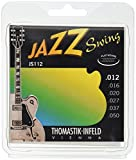 Thomastik Cordes Guitare électriques Jazz Swing Series Nickel Flat Wound Jeu JS112 Medium Light .012-.050w