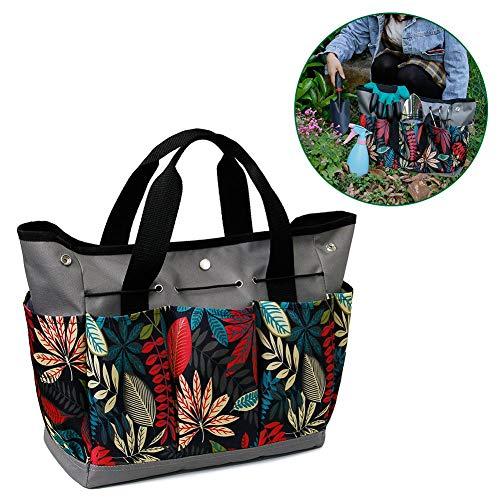 Sue-Supply Garten Werkzeugtasche Multifunktions Garten Faltbare Hardware Tasche Organizer Bag, Oxford Gartengerätetasche mit Kleinen Taschen, Tragbare Gartengeräte, etwa 34,3 x 17,2 x 30,5 cm