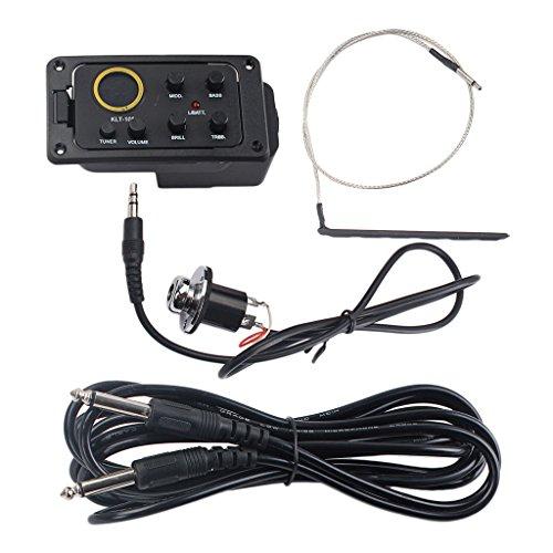 Kit Per Chitarra Acustica Equalizzatore Equalizzatore 4-bande Kit Preamplificatore Piezo-elettrico Con Viti Per Cavi