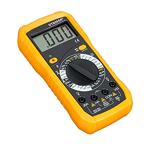 Vipithy Multimeter-Instrumentierung, Digital DT9205A Multimeter-LCD-Wechselstrom-Gleichstrom-Amperemeter-Widerstands-Kapazitätsprüfer