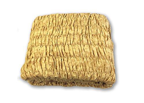 BIANCHERIAWEB Copridivano Angolare Universale Arricciato Oro Angolare Oro