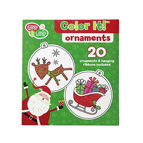 C.R. Gibson Gibby & Libby Color It! DIY Christmas Ornaments Kit