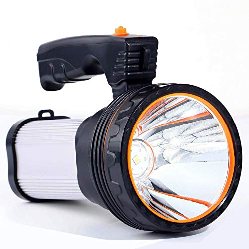 ROMER LED Proiettore Portatile Ricaricabile ad Alta Potenza Super Bright 9000 MA 6000 LUMENS CREE Spot Tattico Torcia Lanterna Torcia(Argento)