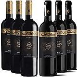 Solar de Samaniego – Vino Tinto Crianza 2018 y Reserva 2014 – D.O. Rioja, Variedad Tempranillo, 12/13 meses en barrica – Caja de 6 botellas x 750 ml – Total: 4500 ml