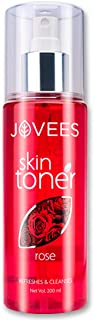 Jovees Herbal Rose Toner For Face, 200 ml   Rose Water and Vitamin C Toner for All Skin Types   Paraben & Alcohol Free