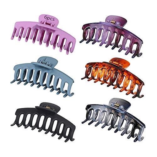 TDCQ 6pcs Haargreifer Clips,Haar Klaue Clips,Große Haarklammer für Dicke Haare,Rutschfeste Haarnadel,Pferdeschwanz Haarklammer,Große Haarklammern,Große Haarklammer Damen