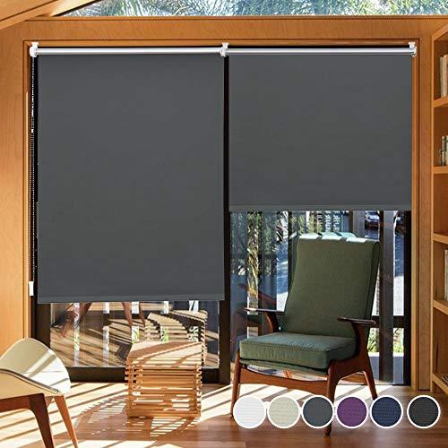 i@HOME Verdunkelungsrollo ohne Bohren 80 x 150 cm(stoffbreite ca.76cm) Rollos für Fenster & Tür für Hitzeschutz und Sichtschutz Fensterrollo, Seitenzugrollo, Thermorollo für Fenster