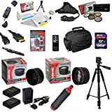 47th Street Photo Ultimate Accessory Kit for the Nikon D50, D70, D80, D90 - Kit Includes: 64GB High-Speed SDXC Card + Card Reader + 2 Extended Life Batteries + Travel Charger + 52MM 0.43x HD2 Wide Angle Macro Fisheye Lens + 52MM 2.2x HD2 AF Telephoto Lens + 52MM 5 Piece Pro Filter Kit (UV, CPL, FL, ND4 and 10x Macro Lens) + HDMI Cable + Padded Gadget Bag + Professional 60' Tripod + Stabilizing Handgrip & Handgrip Strap + Lens Cleaning Pen + Cleaning Kit + DSLR Camera Intro DVD Photo Print +