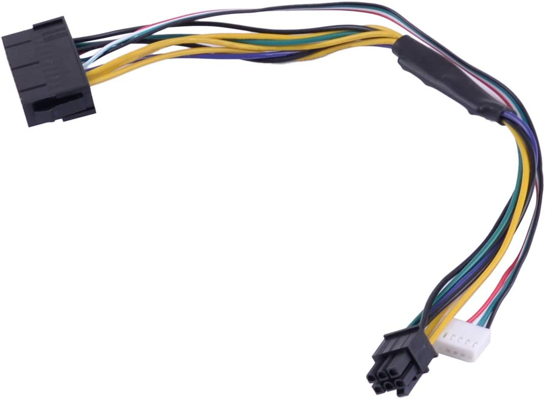 LETAOSK ATX Main 24-Pin to 6-Pin PSU Power Adapter Cable 18AWG for HP Z220/Z230