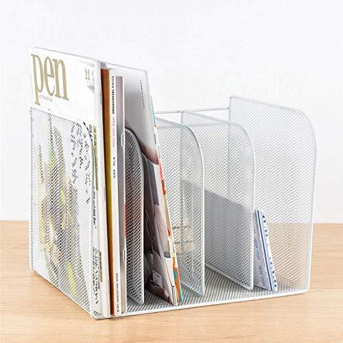 LY88 Boekenplank Bureau Top Bestand Organizer - File Stand 4 Rechtopstaande secties Voor Bestanden Binders Mappen Klemborden Etc Desktop Opslag Voor Huizen Kantoren Scholen En Winkels (Kleur : A)