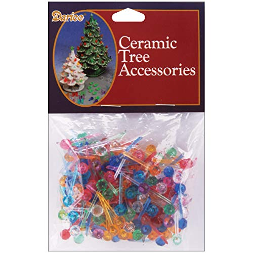 Darice Ceramic Christmas Tree Bulbs .25in 250/Pkg-Mini Globe - Multicolor