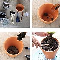 Yardwe 20ピース5.5×5センチ小さなミニテラコッタ植木鉢粘土セラミック陶器プランターサボテン植木鉢多肉植物保育園ポット植物の工芸品結婚式の好意に最適