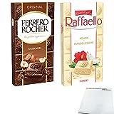 Ferrero Schokolade Raffaello & Original Testpaket (2x90g Tafel) + usy Block