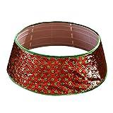 Merry Christmas Tree Collar 30 Inch Sequin Dot Xmas Tree Skirt Ring Base Cover christmas tree collar