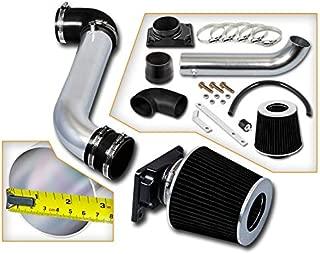 Rtunes Racing Short Ram Air Intake Kit + Filter Combo BLACK Compatible For 01-05 Dodge Stratus / 00-05 Mitsubishi Eclipse / 99-03 Mitsubishi Galant …