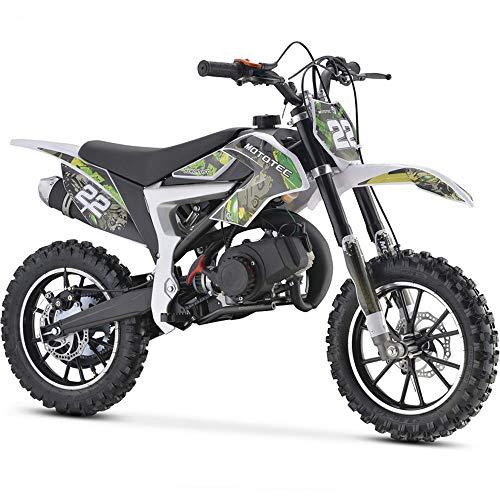 MotoTec 50cc Demon Kids Gas Dirt Bike 2-Stroke Motorcycle Pit Bike Green