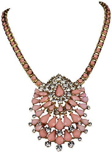 Fashion Statement Kette Reeze Rosa Kristall Blüten