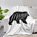 Multi-Styles to My Daughter Love Mom Throw Blanket Quilt Bedspread Fleece Flannel Soft Couch Home Decor Luxurious Warm Cozy for Spring Summer Autumn ((80'x60' INCH for Adult), Mama Bear)