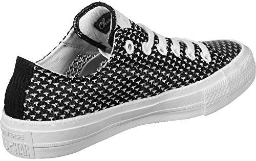 adidas Damen Chuck Taylor All Star II OX Basketballschuhe, Schwarz (Schwarz/Weiß Schwarz/Weiß), 37.5 EU
