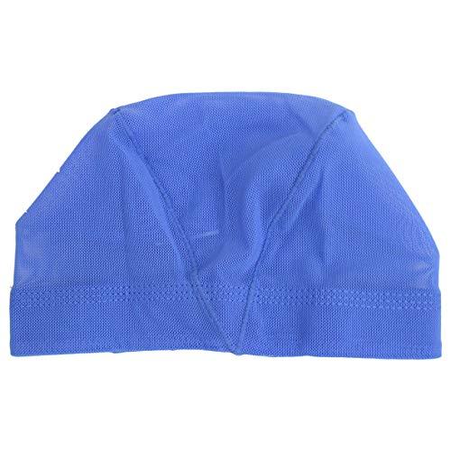 スイムキャップ メッシュ スイミングキャップ 水泳帽子 キッズ 子供 大人 ブルー LL