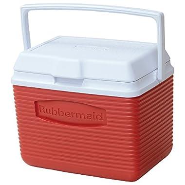 Rubbermaid Cooler, 10 qt, Red (FG2A1104MODRD)