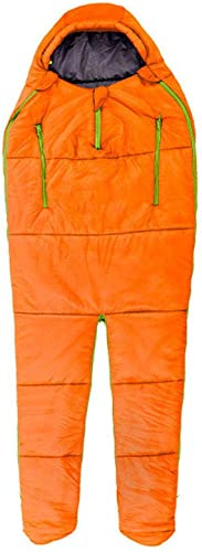 ZWYY Durable,Breathable,comfortableSac de Couchage, Plein Corps Portable Sacs de Sommeil léger Chaud 4 Saison Sommeil Sac Adultes extérieur Coussin de Couchage intérieur,Orange,198  75cm