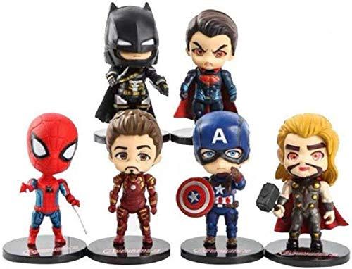 Modello D Versione Animeq Avengers Figura Anime Iron Spiderman Modello Giocattolo Capitan America Bambola Action Figure Decorazione Regalo 10 cm