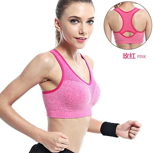 ZHUDJ Les Particules d'un Soucravaten-Gorge De Sport Porteur De Rembourrage pour Yoga Vest Pas l'anneau d'acier De L'été Sports Bra, Mieux,85C Rouge