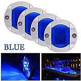 Bkinsety 4 piezas Luces de navegación LED 12V para barcos marinos Impermeables Luces de popa(Azul)