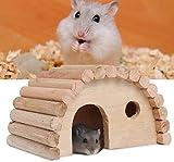 HEEPDD Casa de hámster de Madera, escondite arqueado escondite de Animales pequeños hámsters Hábitat de anidación de Gerbils Chinchillas cobayas pequeños
