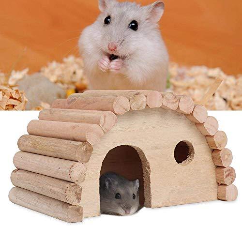 HEEPDD Hölzernes Hamster-Haus, gewölbte Versteck-Hamster des kleinen Tierversteckes, die Lebensraum für Gerbils-Chinchilla-Meerschweinchen-Kleintiere nisten