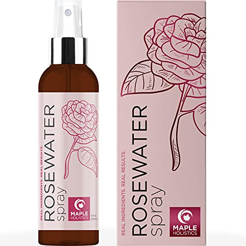 Rose Water Spray for Face Care - Rosewater Face Toner and Lactic Acid Serum for Face Mist Spray - Pure Rosewater Spray Toner and Facial Exfoliant Pore Cleaner for Skin and Facial Moisturizer