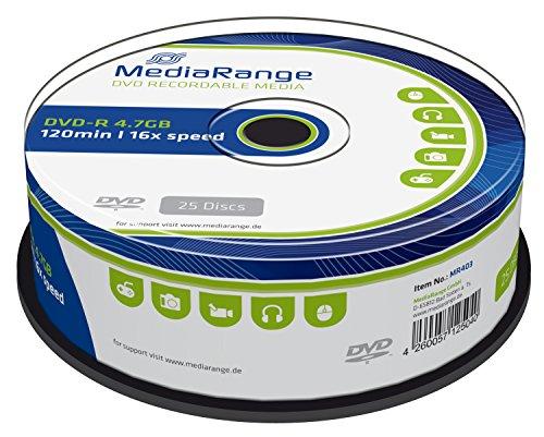 MediaRange MR403 DVD-R 4,7GB (16x Speed, 25 Stück)
