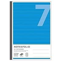 アピカ ノーツフォリオ 糸綴じノート A4 7mm罫 ブルー NT47-BL 1冊