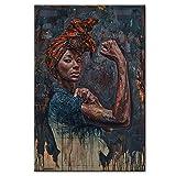 Leinwand drucken Poster Afrikanerin Plakat andwall Dekor
