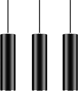 Hobaca GU10 Dia 6CM * L 20CM Bague en argent Moderne Tube cylindrique LED Spot de plafond Suspension lumineuse pour la déc...