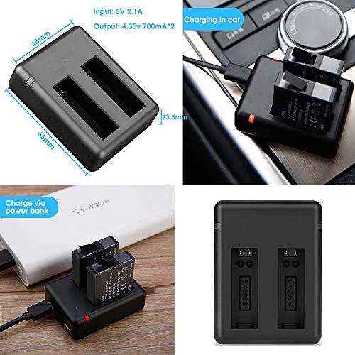 FairOnly Insta360 One x batterijlader Dual USB-ondersteuning Micro- en Type C-voeding Snel opladen Ingang Onzichtbare camera Accessoires
