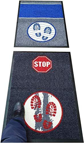 Hostelnovo – Alfombra desinfectante para Calzado – Desinfección y Secado para la Suela de Sus Zapatos – Sin inscripción – Medidas: 60 x 85 cm – 2 Piezas