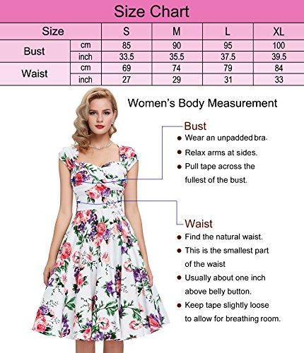 50s Knielang Rundausschnitt Sommerkleid petticoat Kleid Ohne Arm - 3