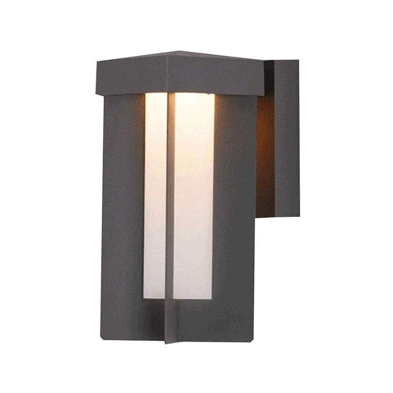 見物人繕う古風な壁ランプ近代的なミニマリストの屋外防水壁ランプコートヤード回廊ウォールデコレーション照明バルコニーブラケットランプ (Color : Black, Size : 17*11.7*24cm)