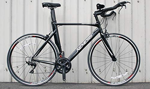 "Motobecane 2019 Nemesis Triathlon Dura-Ace/R7000, 22 Speed Triathlon Time Trial Bike (Gloss Black, 54cm - 5'8""-5'10"")"