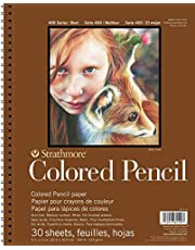 "Strathmore 477-9 Colored Pencil PAD 9X12 30SHT 400 Series, 9""x12"", 30 Sheets"