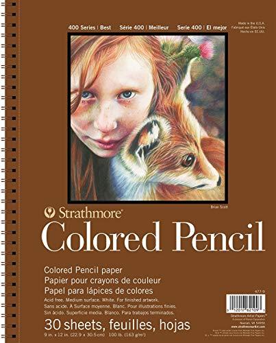 Strathmore 477-9 Colored Pencil PAD 9X12 30SHT 400 Series