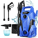 Power Washer, TEANDE Pressure Washer 2300PSI Electric High Pressure Washer 1400W Professional Car Washer Cleaner Machine with Nozzles, Pressure Hose, Best for Cleaning Patio Garden Yard Vehicle(Blue)